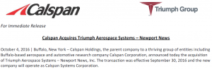 Calspan Press Release (from http://www.calspan.com/wp-content/uploads/2016/10/Press-Release-Calspan-Systems-Corporation.pdf, 2016-10-08)