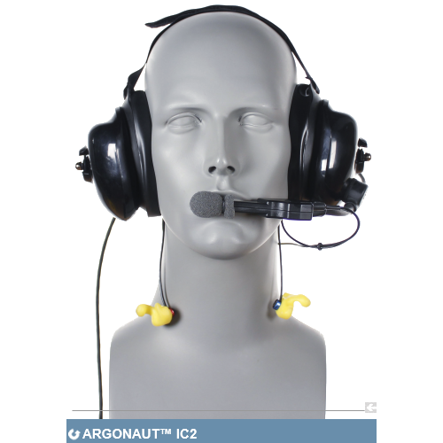 Aegisound Argonaut™ IC2 - industrial communication and double hearing protection system