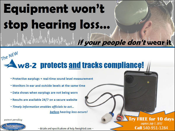 Flyer: Equipment won't stop hearing loss if your people don't wear it
